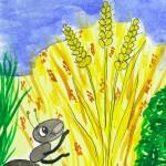 Ameise und Weizenkorn